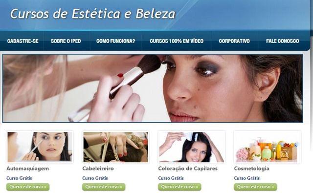 cursos gratuitos com certificado de estética e beleza