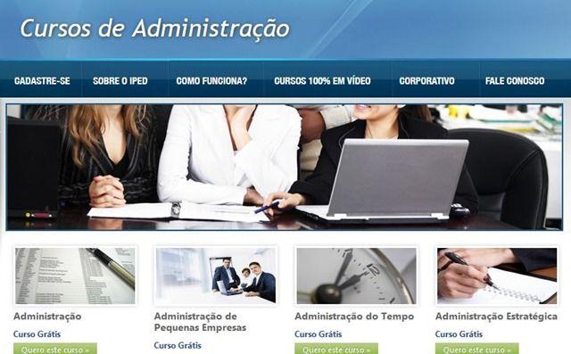 Cursos gratuitos com certificado de administração