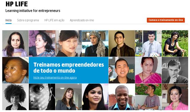 cursos online grátis HP Life