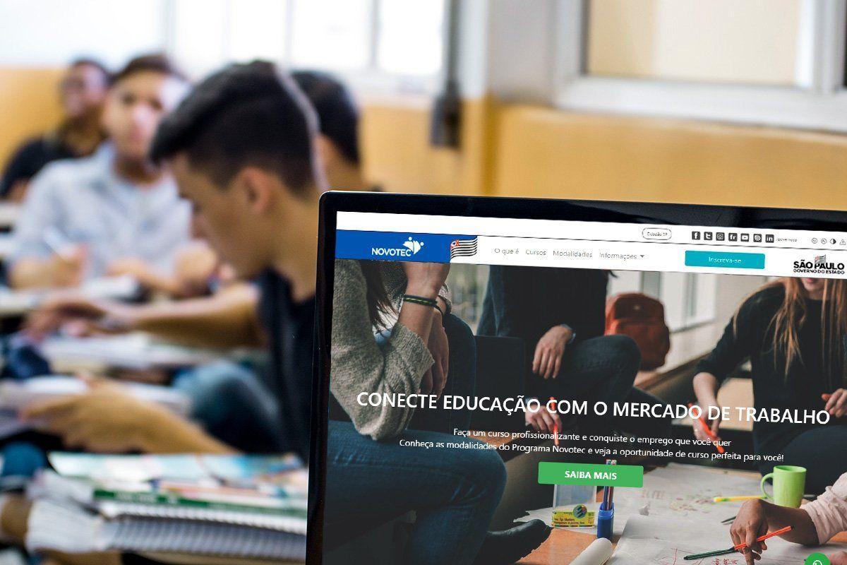 Cursos gratuitos profissionalizantes para cerca de 1,3 mil vagas do Novotec