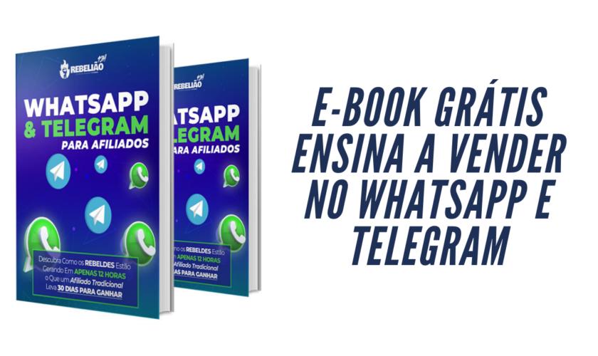 E-book Grátis ensina a fazer vendas online usando WhatsApp e Telegram